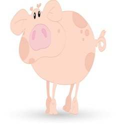 Pig resize vector image