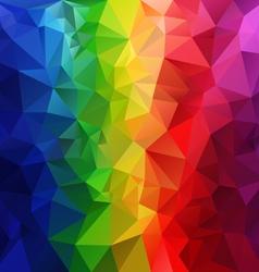 Rainbow spectrum striped polygonal triangular vector