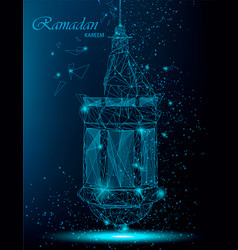 Ramadan kareem beautiful greeting card with vector
