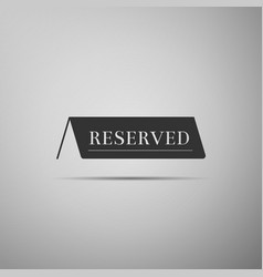 Reserved flat icon on grey background vector