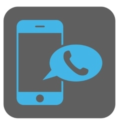 Smartphone Call Balloon Rounded Square Icon vector image vector image