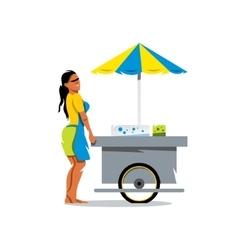 Street Food Store Cartoon vector image vector image