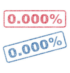 0000 percent textile stamps vector image vector image