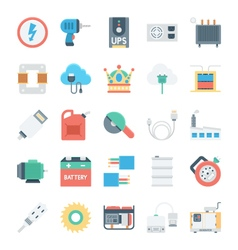 Energy and power icons 5 vector