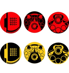 Stylized images of telephone set vector