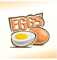 Logo for chicken egg vector