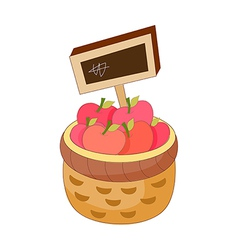 An apples in the basket vector