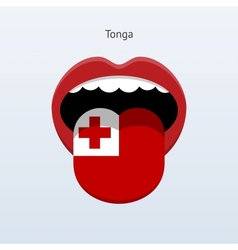 Tonga language abstract human tongue vector