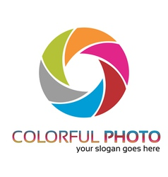 Colorful foto logo vector