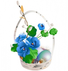 Easter composition vector