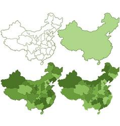 China maps vector