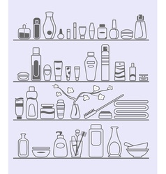 Beauty and care elements vector