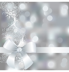 Silver winter background with snowflakes vector