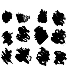 Black ink blots vector
