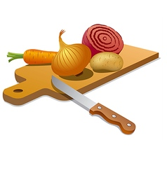 Cooking vegetables vector