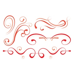 Set of elements for design decorative borders vector