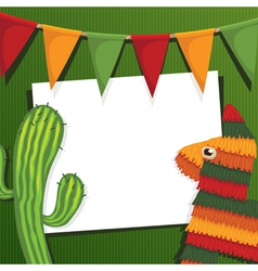 Mexican party vector