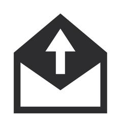Envelope with arrow upwards icon vector