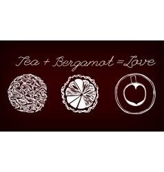 Tea time concept vector