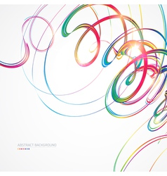 Abstract background with multicolored lines vector