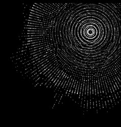 Abstract monochrome sphere of vector