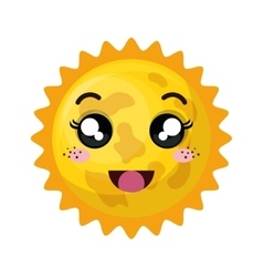 Astronomical sun isolated icon vector