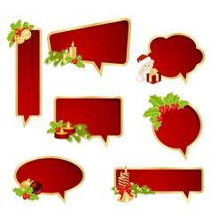 bubble speech christmas vector image vector image