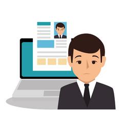 Businessman character avatar icon vector
