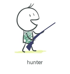 Cartoon hunter vector image