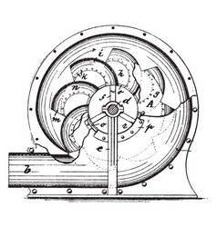 Centrifugal blower vintage vector