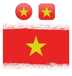 Colored Vietnam Flag vector image