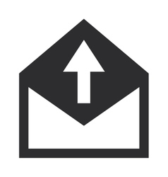 Envelope with arrow upwards icon vector