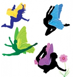 fairies set vector image vector image