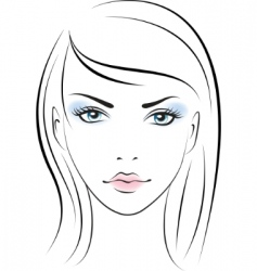 female portrait vector image vector image