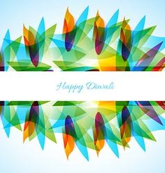 Happy diwali background vector