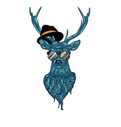 Hipster stag4 vector