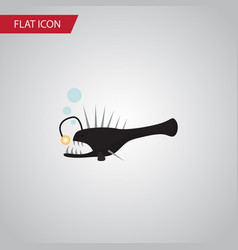 Isolated anglerfish flat icon fish element vector