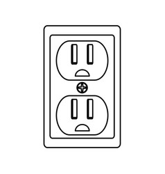 Isolated electric plug vector