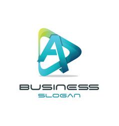 letter a media logo vector image vector image