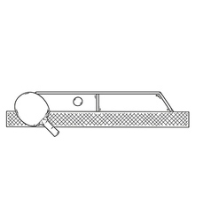 One ping pong racket and table vector