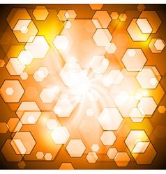 Orange shiny background vector image