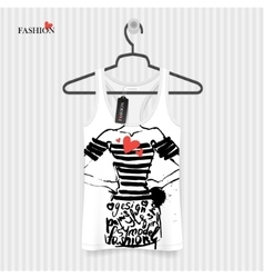 Print for T-shirt vector image vector image