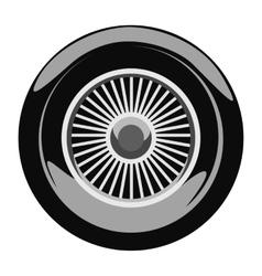Retro car wheel vector