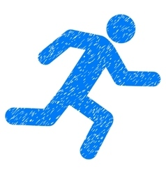 Running man grainy texture icon vector