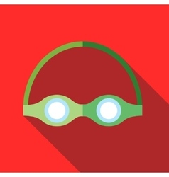 Swimming goggles icon flat style vector