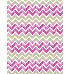 Watercolor zigzag pattern vector image
