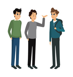 Group male talking casual design vector