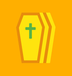 Flat icon stylish background coffin vector