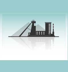 Coal mining vector