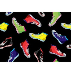 Teenager sneakers pattern vector image